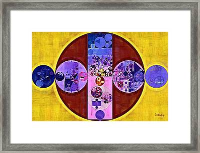 Abstract Painting - Blackberry Framed Print by Vitaliy Gladkiy