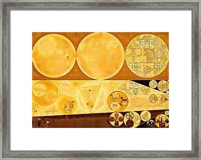 Abstract Painting - Bordeaux Framed Print by Vitaliy Gladkiy