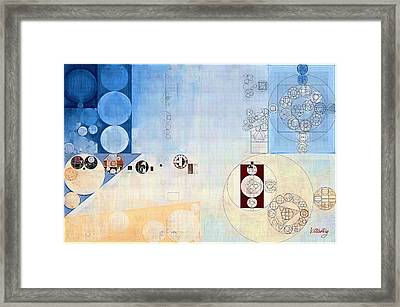 Abstract Painting - Carolina Blue Framed Print by Vitaliy Gladkiy