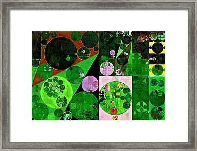 Abstract Painting - Deep Fir Framed Print by Vitaliy Gladkiy