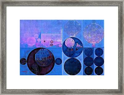 Abstract Painting - Han Blue Framed Print by Vitaliy Gladkiy
