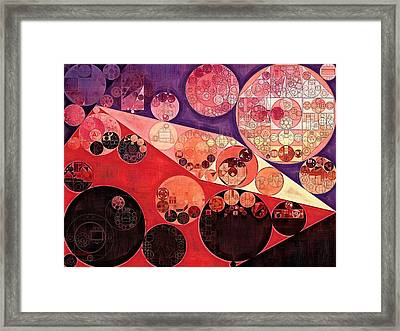 Abstract Painting - Milano Red Framed Print by Vitaliy Gladkiy