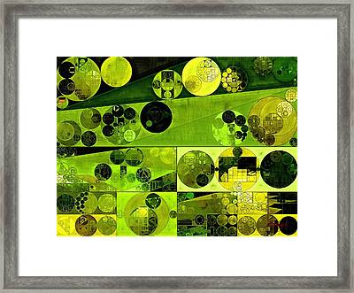 Abstract Painting - Olive Drab Framed Print by Vitaliy Gladkiy