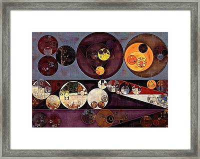 Abstract Painting - Seal Brown Framed Print by Vitaliy Gladkiy