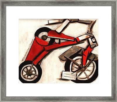 Abstract Tricycle Art Print Framed Print by Tommervik