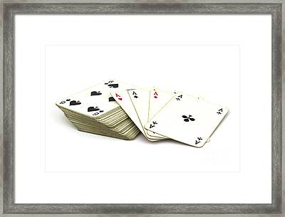 Ace Card Framed Print by Blink Images