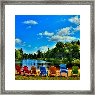 Adirondack Calm Framed Print by David Patterson
