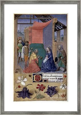 Adoration Of Magi Framed Print by Granger