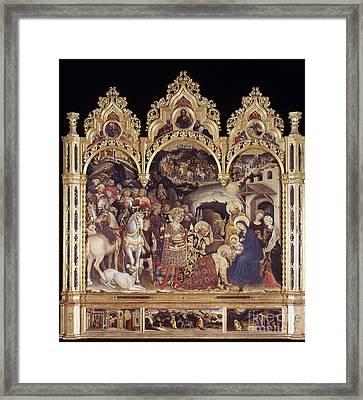 Adoration Of The Magi Framed Print by Granger