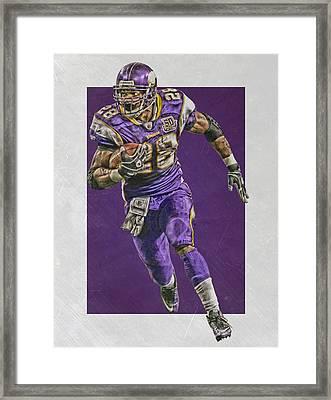 Adrian Peterson Minnesota Vikings Art Framed Print by Joe Hamilton