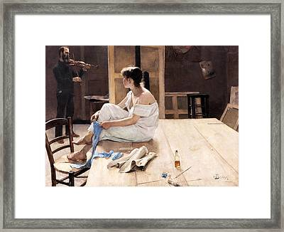 After The Sitting Framed Print by Mountain Dreams