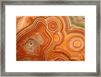 Agate Framed Print by Ted Kinsman