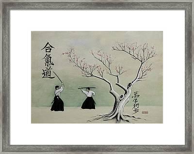 Aikido Always Beginning Framed Print by Scott Manning