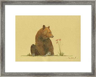 Alaskan Grizzly Bear Framed Print by Juan Bosco