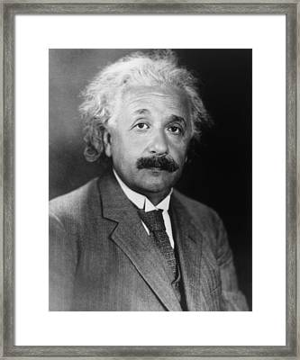 Albert Einstein 1879-1955 Framed Print by Everett