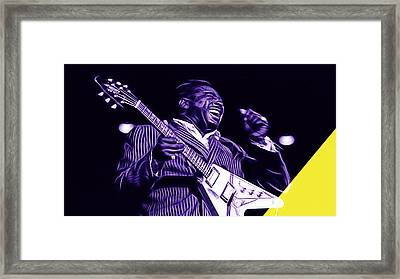 Albert King Collection Framed Print by Marvin Blaine