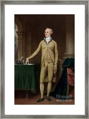 Alexander Hamilton Framed Print by American School