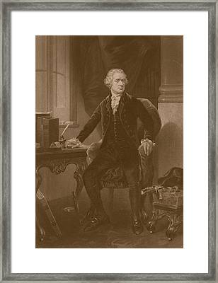 Alexander Hamilton Framed Print by War Is Hell Store