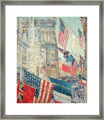Allies Day - May 1917 Framed Print by Childe Hassam