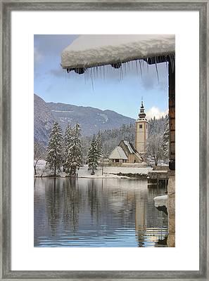 Alpine Winter Clarity Framed Print by Ian Middleton