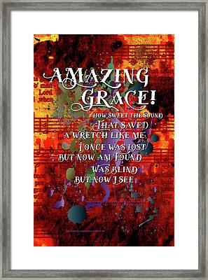 Amazing Grace Framed Print by Chuck Mountain