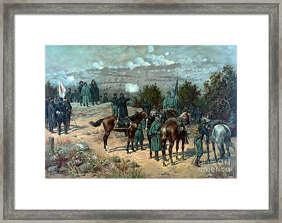 American Civil War, Chattanooga Framed Print by Science Source