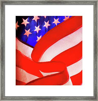 American Flag Framed Print by George Robinson