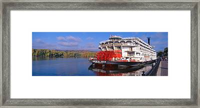 American Queen Paddlewheel Ship Framed Print by Panoramic Images
