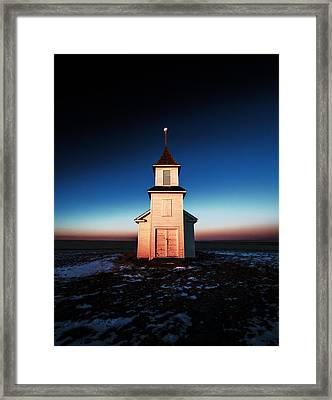 And There Was Light Framed Print by Todd Klassy