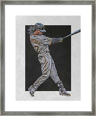 Andrew Mccutchen Pittsburgh Pirates Art Framed Print by Joe Hamilton
