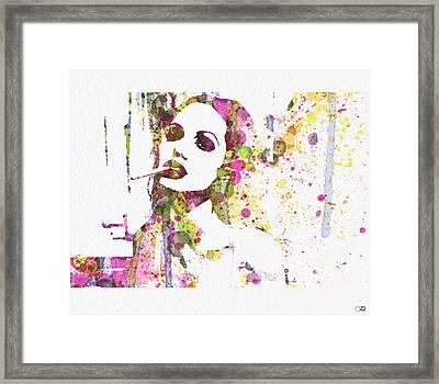 Angelina Jolie 2 Framed Print by Naxart Studio