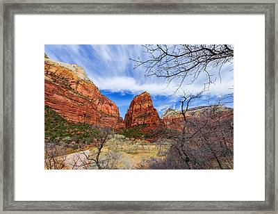 Angels Landing Framed Print by Chad Dutson