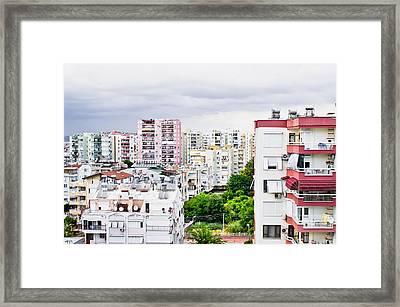 Antalya Buildings  Framed Print by Tom Gowanlock