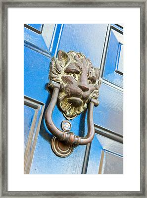 Antique Knocker Framed Print by Tom Gowanlock