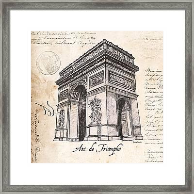Arc De Triomphe Framed Print by Debbie DeWitt
