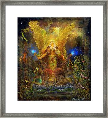 Archangel Michael-angel Tarot Card Framed Print by Steve Roberts