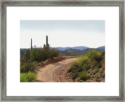 Around The Bend Framed Print by Gordon Beck