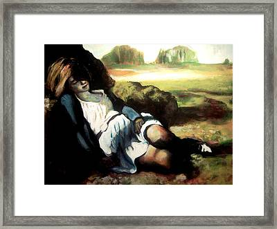 Asleep Framed Print by Gabriel Aceves