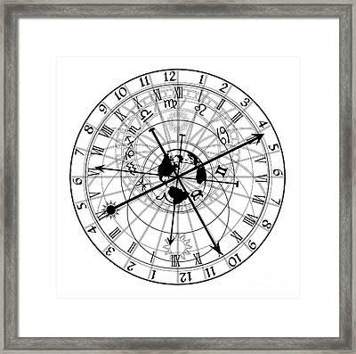 Astronomical Clock Framed Print by Michal Boubin