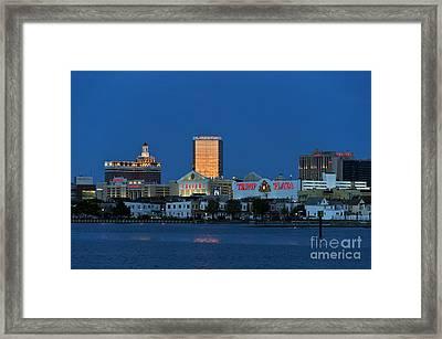 Atlantic City Skyline Framed Print by John Greim