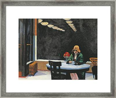 Automat Framed Print by Edward Hopper