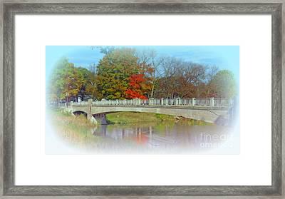 Autumn Bridge Framed Print by Kay Novy