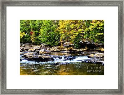 Autumn Middle Fork River Framed Print by Thomas R Fletcher