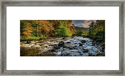 Autumn Rapids Framed Print by Adrian Evans