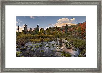 Autumn Sunset Framed Print by Leland D Howard