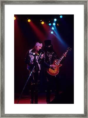 Axl Rose And Slash Framed Print by Rich Fuscia