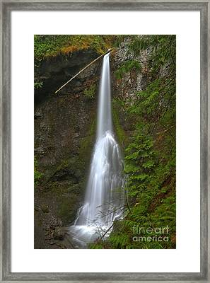 Marymere Olympic Waterfall Framed Print by Adam Jewell