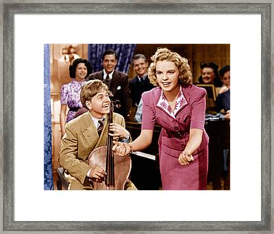 Babes In Arms, From Left Mickey Rooney Framed Print by Everett