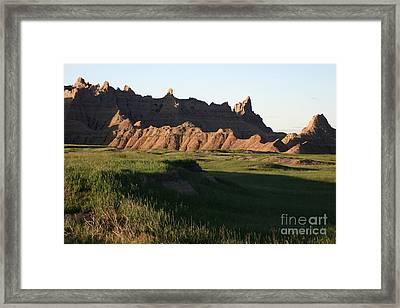 Badlands Morning Framed Print by Balanced Art