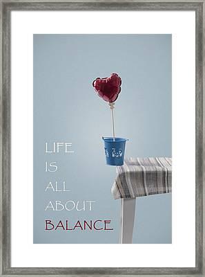 Balance Framed Print by Joana Kruse